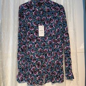 NWT Zara button up flower shirt, size XL